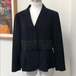 MOSCHINO Black Blazer with Bugle Beads